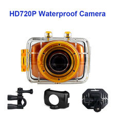 HD 720P Digital Camera Sport Camera DV-123 1.77″ LCD Screen Ultra Slim Waterproof Helmet Action Camera For Outdoor Activities