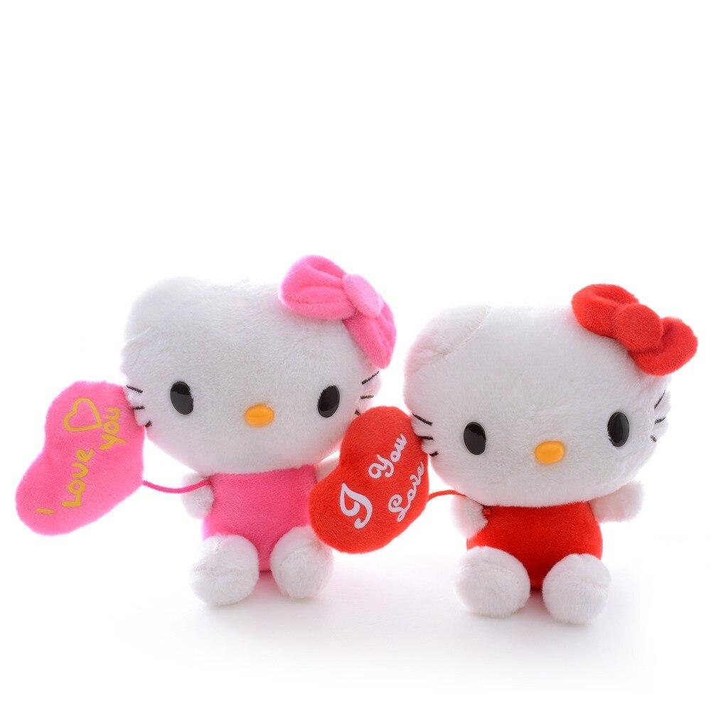 I Cinta You Merah Muda Merah Kartun Hewan Hello Kitty