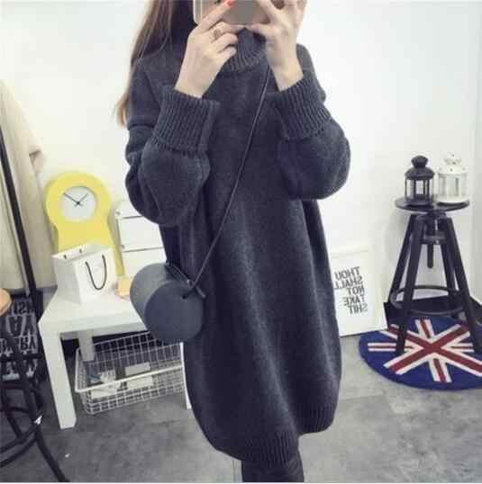 Fdfklak зимняя одежда для беременных Женская водолазка длинный трикотажный свитер для беременных женщин Одежда для беременных свитера для беременных