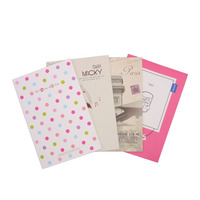 Free Shipping Korea Creative Cute Cartoon School Supplies A5 Notebook Notepad Diary Gift Set