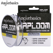 Anglerbasics 100% Fluorocarbon Fishing Line 200yds/182M Fly Or Lure Fishing Monofilament Leader Line 4LB 6LB 8LB 10LB 12LB 15LB