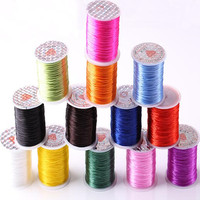 0 6mm 60m Roll Elastic Line For Bracelet And Necklace Making Elastic Cordones Thread String Wholesale