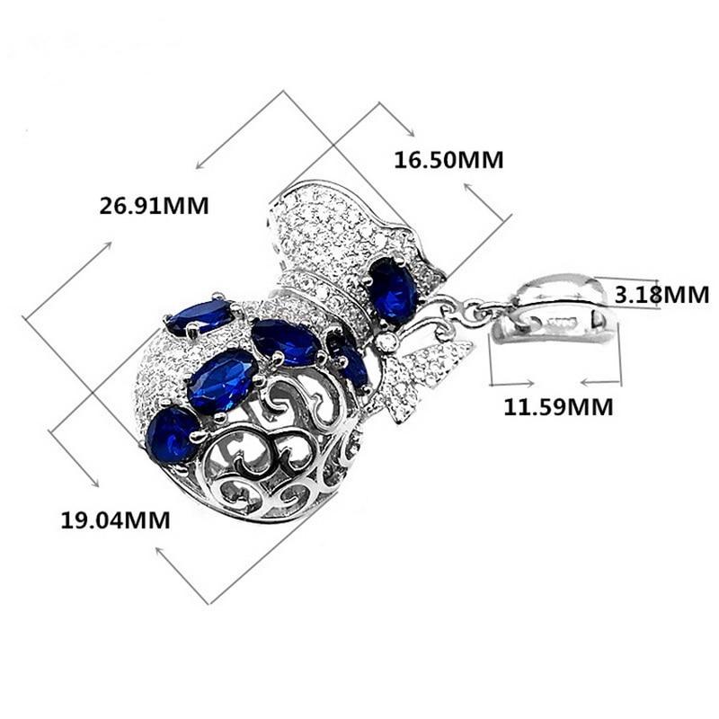 HTB1HwvNvL5TBuNjSspmq6yDRVXaP 3. 7. Fashion Trendy Spinel Pendant Locket OL  Cute Romantic Jewellery Gift. 925 Sterling Silver Lucky Bag inlaid Sapphire  Cage ... 731b4d466a50