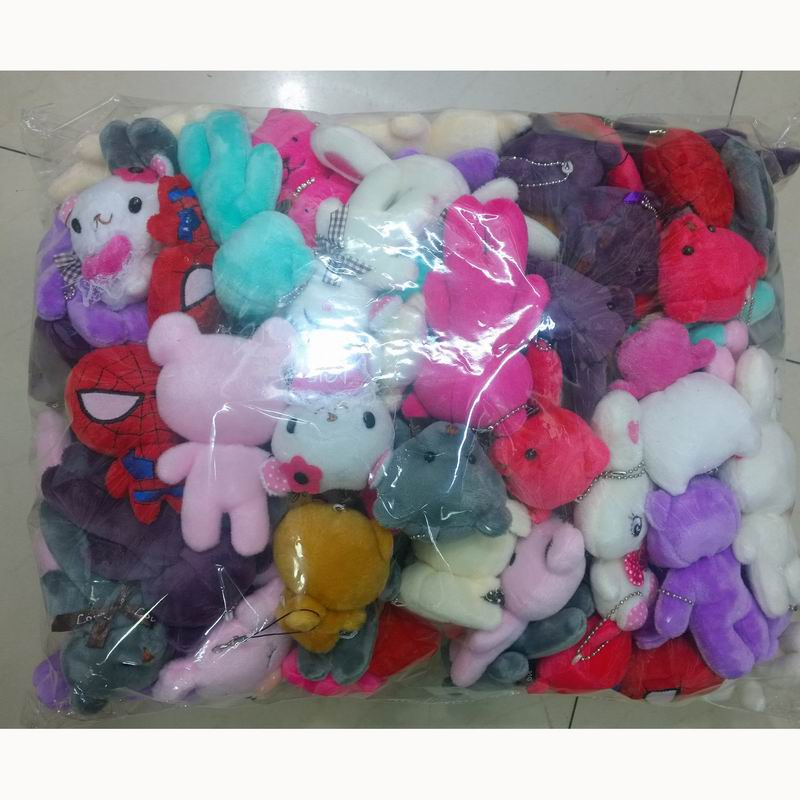 New 11cm 100pcs Lovely Teddy bear plush toys small doll bears for wedding cartoon flower bouquet