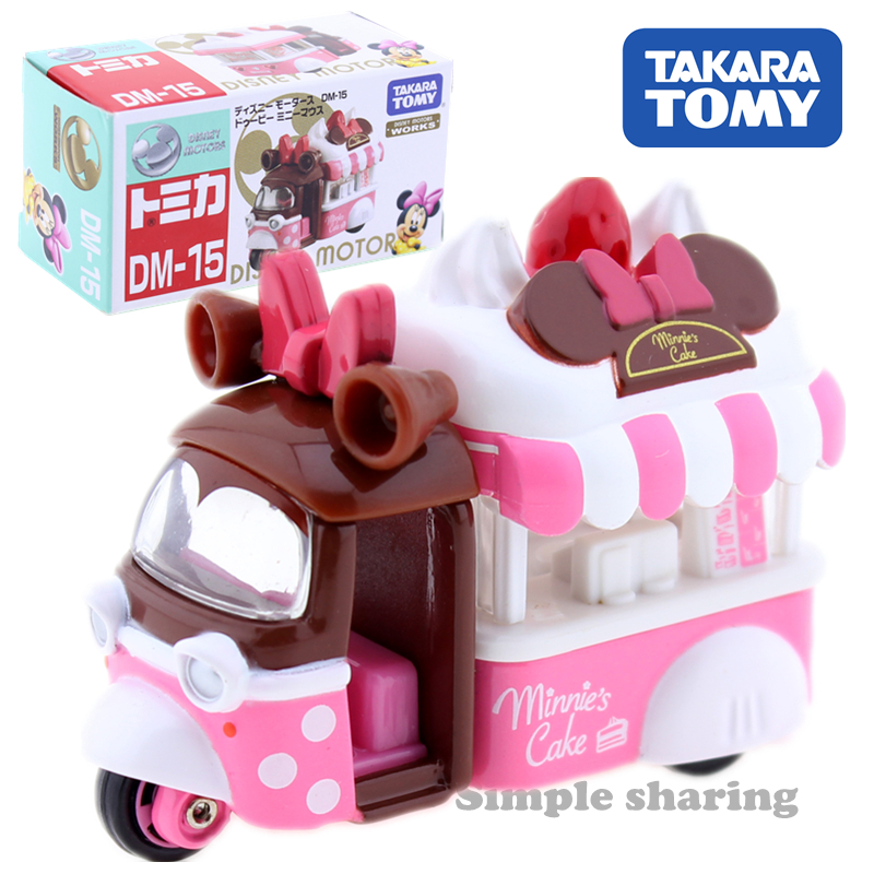 Takara Tomy Tomica Disney Motors DM-15 Dobby Minnie Mouse Car Motors Vehicle Diecast Metal Model New Kids Toys