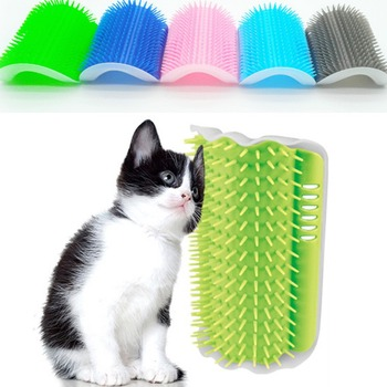 Pet Cat Self Groomer With Catnip For Shedding and Trimming Cat Hair and Removal of Extra Hair