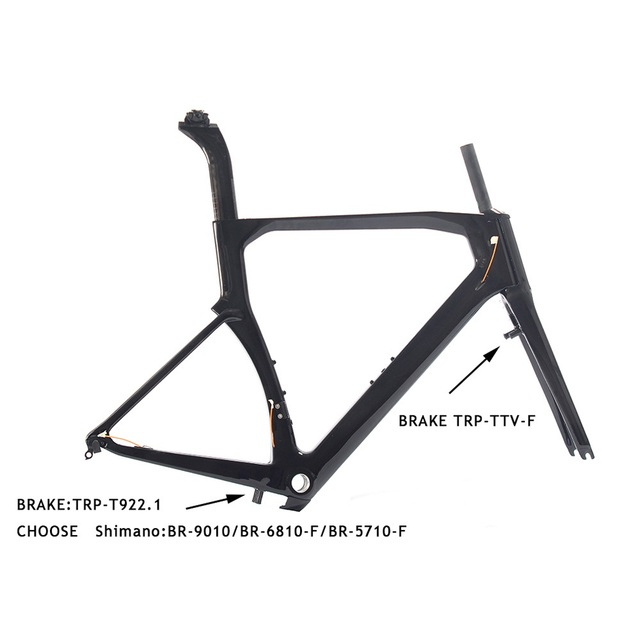 Carbon Aero Road Bike Frame Sports Cycling Bicycle Parts Di2 BSA UD ...
