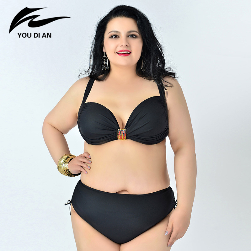 ФОТО 2017 Plus Size Swimwear Bikini Women Swimsuit Bathing New Style Hot Sale Swimwear Woman Sexy Plus Size Bikini Set