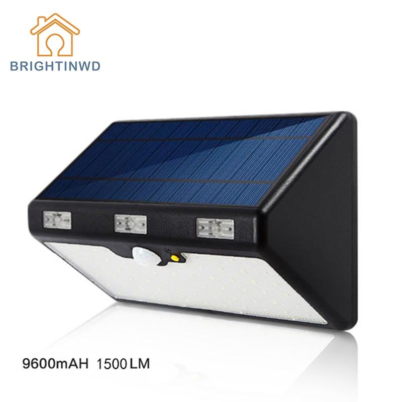LED Solar Light 60LED 9600mAH 1350LM High Brightness  Emergency Outdoor Lighting Garden Street Ip65 Lamp Luminaria Lights