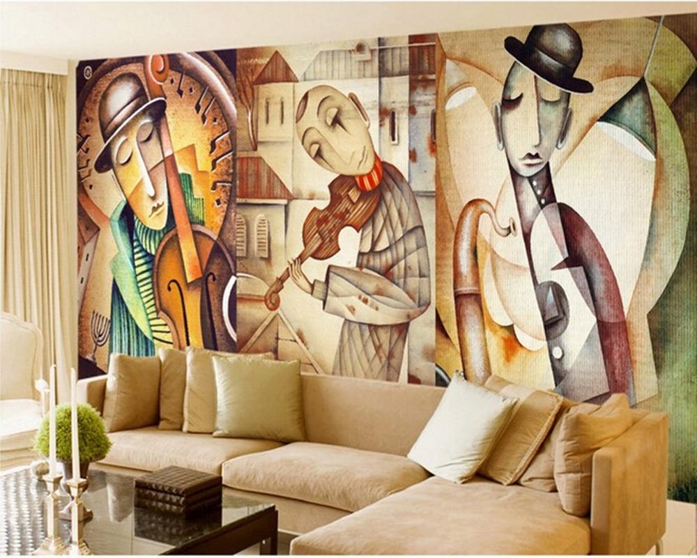 Personalizado retro revestimentos de parede, eugene ivanov arte murais para o quarto sala estar tv fundo