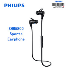 Original Philips SHB5800 Earphone Bluetooth connection Wired control with Mic Micro USB charging headsets Support NFC Function(China)