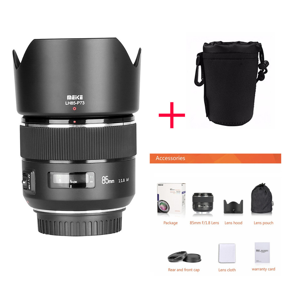 Meike 85mm F/1.8 Foco Automático Full Frame Aspherical Médio Telefoto Prime Lens for Canon EOS 1300D 750D 1100D 600D Câmeras DSLR