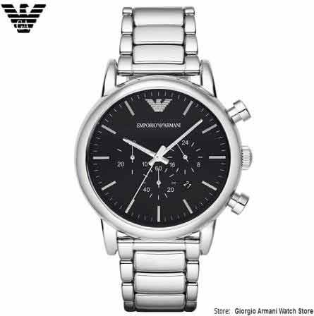 Armani dos homens Giorgio Quartz Watch, impermeável, AR1894 Armani - Relógios masculinos