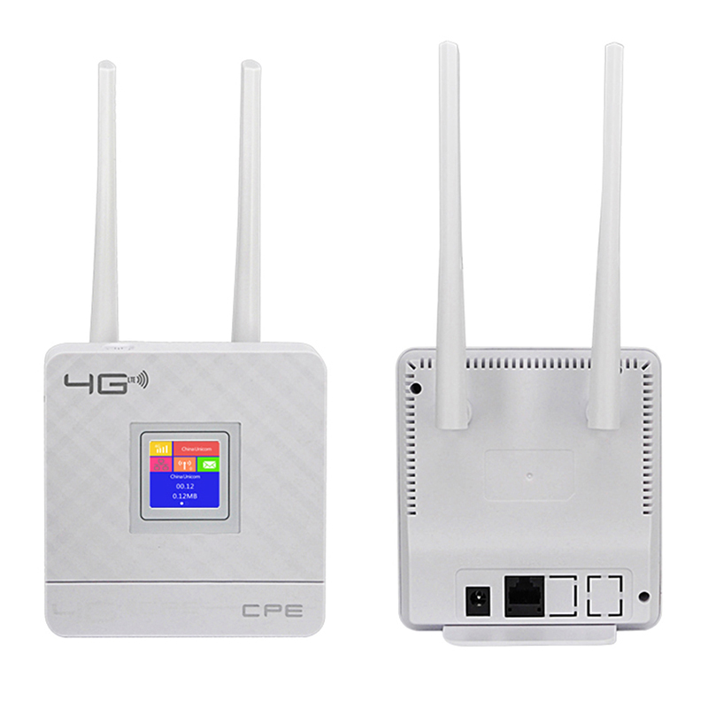 TIANJIE CPE903 1 x RJ45 WAN/LAN Port Home 3G 4G 2 External Antennas WIFI ROUTER CPE wireless router with and 1 sim card slot