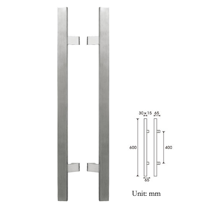 Aliexpress Buy Frame Door Handle Pa 123 3015600mm Glass Door
