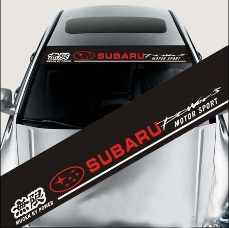 Free shipping high quality car styling front rear windshield sticker vinyl film subarur custom made service