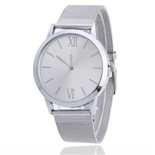 women watch 2017 lady great sale hot top  Women Ladies Silver Stainless Steel Mesh Band Wrist Watch relogio clock  P*21