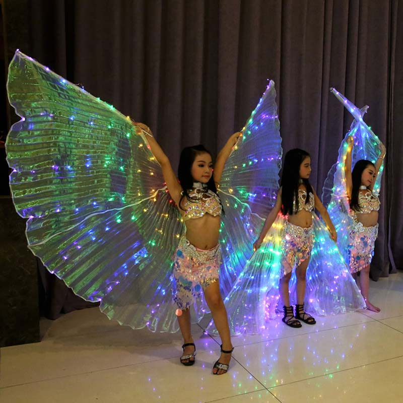 Girls Belly Dance Colorful Light LED ISIS Wings Costume belly dance costumes light show Dance Props