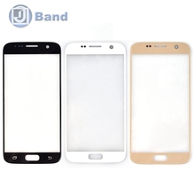 20pcs/lot For Samsung Galaxy S7 G930 Front Outer Screen Glass Lens Cover Replacement Parts White Gold Black Dark Blue