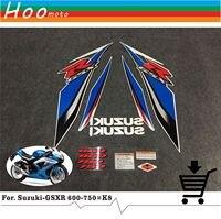 GSXR GSX R GSX R 600 750 K8 08 years High Quality Decals Sticker Motorcycle Car styling Stickers for Suzuki Decals Sticker MOTO