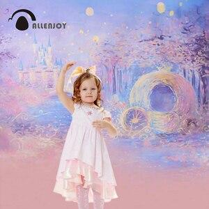 Image 3 - Allenjoy photographie fond bleu Bokeh fond nuit château garçon fille été décors pour Photo Studio caméra Fotografica