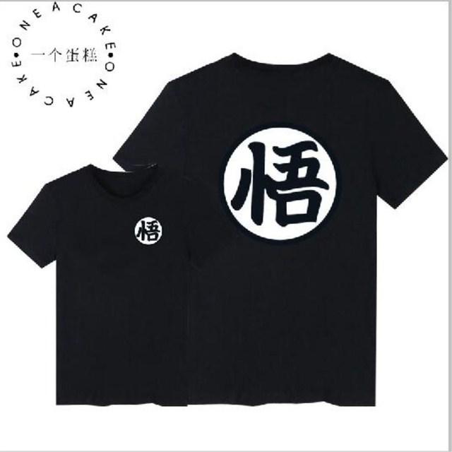Tee Shirt Homme 2017 New Dragon Ball Goku T Shirt Summer Short Sleeve Cotton High Quality 1: 1 Cartoon Men And Women tee Shirt