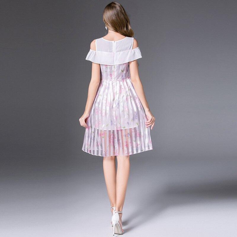 Sweety Abbigliamento High Ragazze Europeo Da Bianco end Lolita Abito Al Aderente Dello Estate Delle E Largo A Righe 2018 Della Spalla Principessa Vestito Americano WdBoCrxe