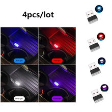 4/1pcs 2 In1 Mini USB Auto Car Ambient Light Neon Interior Light Car Interior Jewelry LED Modeling Motorcycle Christmas Lamp(China)