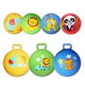 1 pc Bola Inflável Saltando Brinquedo Do Esporte Colorido Animal Dos Desenhos Animados Educacional Brinquedo Bola de Brinquedo Bola para o Bebê