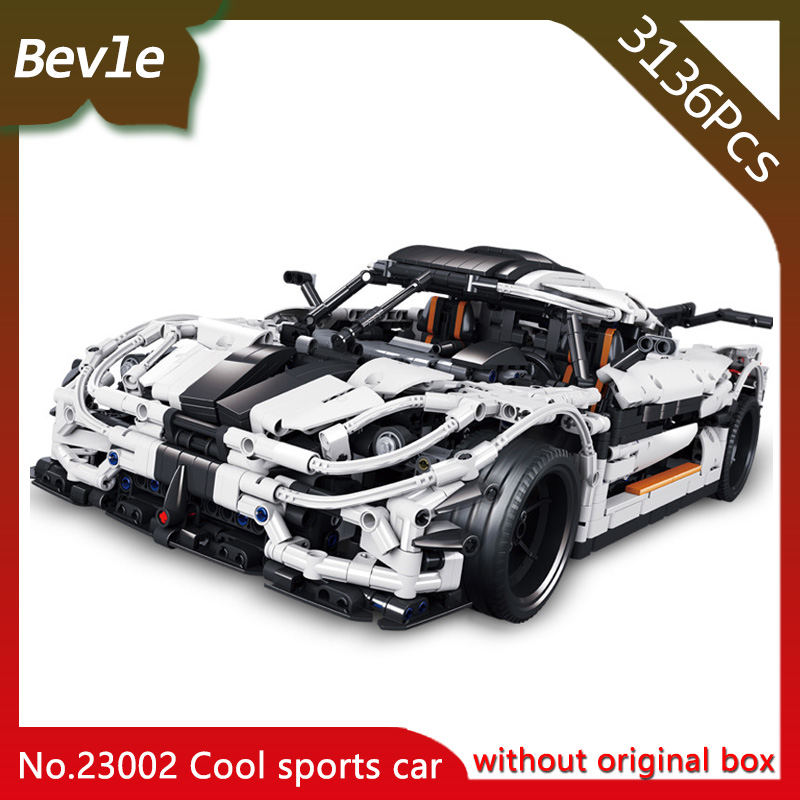 LEPIN 23002 3138Pcs Technic Series MOC White super sports Model Assembly Building Blocks Bricks Toys For Children Educational original supply 3138 158 64202 me5p 23 3138 6254 3 used disassemble