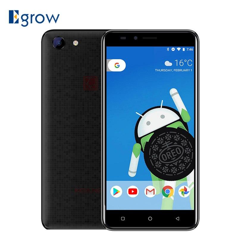 Koolnee Rainbow 5.0 HD Smartphone MTK6580A Quad Core Android 8.1 1GB RAM 8GB ROM 8MP Camera 2400mAh Dual Sim 3G Cell phones
