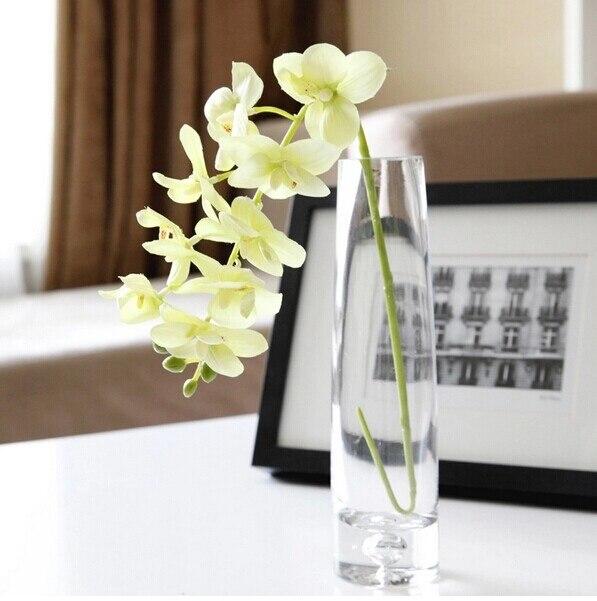 100 шт. фаленопсис шелк маленький цветок орхидеи искусственные цветы Свадебная вечеринка поддельные цветок - Цвет: 100pcs Green
