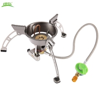 BRS 11 Outdoor Gas Stove High Quality Split Windproof Cookware Copper Alloy Stainless Steel Stove Windproof With Carrying Bag