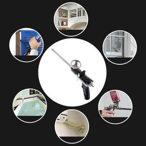 Image 3 - 340 millimetri di Plastica Professionale In Metallo Manuale Schiuma di Poliuretano Espansione Pistola A Spruzzo Per Il Sigillante Di Vetro