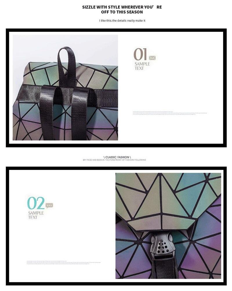 HTB1zK88av1G3KVjSZFkq6yK4XXaz Bao Women Backpack Luminous Drawstring Female Daily Backpack Geometry Backpacks Folding School Bags For Teenage Girls Mochila