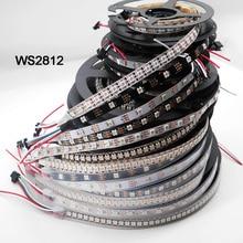 Bande lumineuse led intelligente, WS2812B 1m/5m 30/60/144 pixels/diode/m, WS2812 IC;WS2812B/M,IP30/IP65/IP67, PCB noir/blanc, DC5V