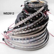 WS2812B 1m/5m 30/60/144 pixeles/leds/m Smart tira de píxeles led, WS2812 IC;WS2812B/M,IP30/IP65/IP67, PCB negro/blanco, DC5V