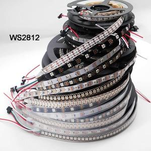 Image 1 - WS2812B 1m/5m 30/60/144 pixels/leds/m Smart led pixel strip,WS2812 IC;WS2812B/M,IP30/IP65/IP67,Black/White PCB,DC5V