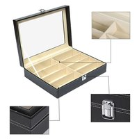 8 Grids Sunglasses Storage Box Jewelry Organizer PU Leather Collection Glasses Display Holder Packaging Portable Case Container