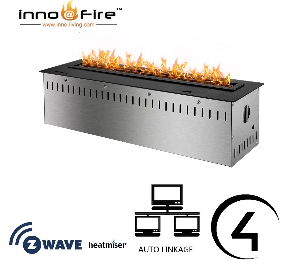 Inno Living Fire 36 Inch Ethanol Fireplace Burner With Wifi Control