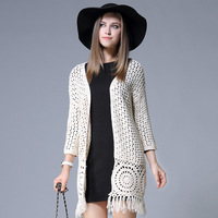 Tassel Cardigan Women S New Autumn And Winter Knit Long Cardigan Women S Large Size Long