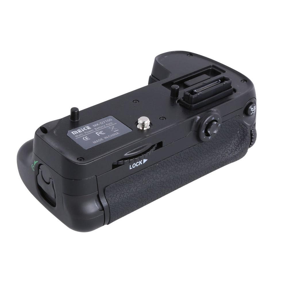 Meike Vertical Battery Grip Holder for Nikon D7200 replace MB-D15 as EN-EL15 travor battery grip holder for nikon d7100 d7200 dslr camera replacement mb d15 1pcs en el15 li ion battery 2pcs lens cloth