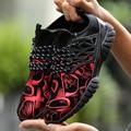 Мужчины Повседневная Обувь Весна Лето Зашнуровать Спортивные Тренеры Прогулки Обувь Смешанный Цвет Воздухопроницаемой Сеткой Корзина Zapatillas Отдых Золото