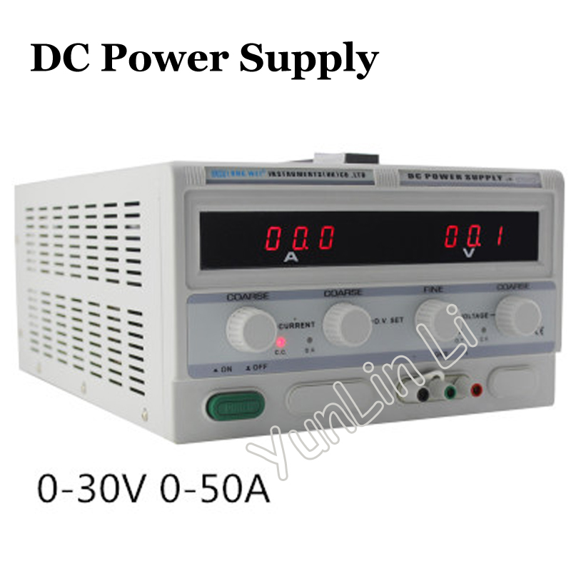 30V 50A DC Power Supply Voltage Regulator/Stabilizer High Precision Digital Display Power Supply LW-3050KD 1200w wanptek kps3040d high precision adjustable display dc power supply 0 30v 0 40a high power switching power supply