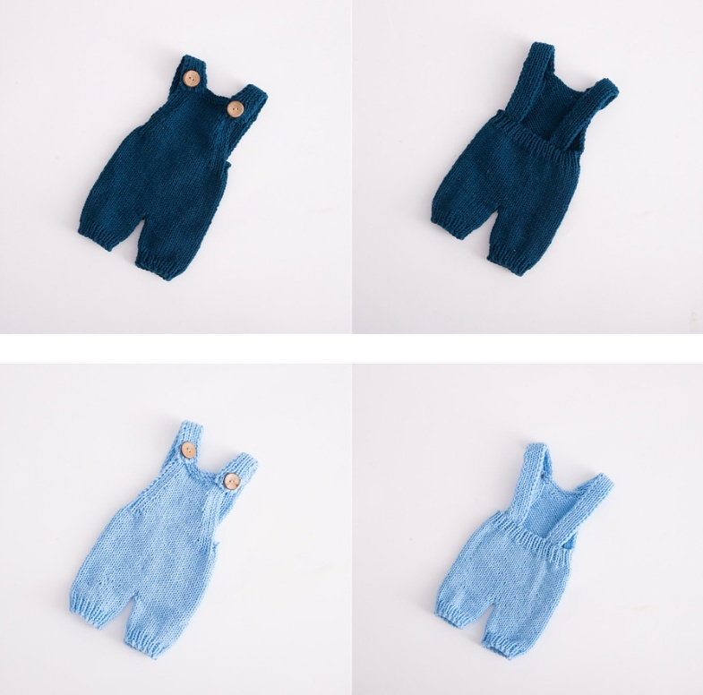 0 1 Month Knitted Wool Baby Rompers Pant Baby Onesie Newborn Photo Props Baby Photo Props Baby Jumpsuit in Rompers from Mother Kids