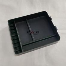1 unid caja apoyabrazos central de almacenamiento caja contenedora organizador para toyota land cruiser prado fj150 2014-2016