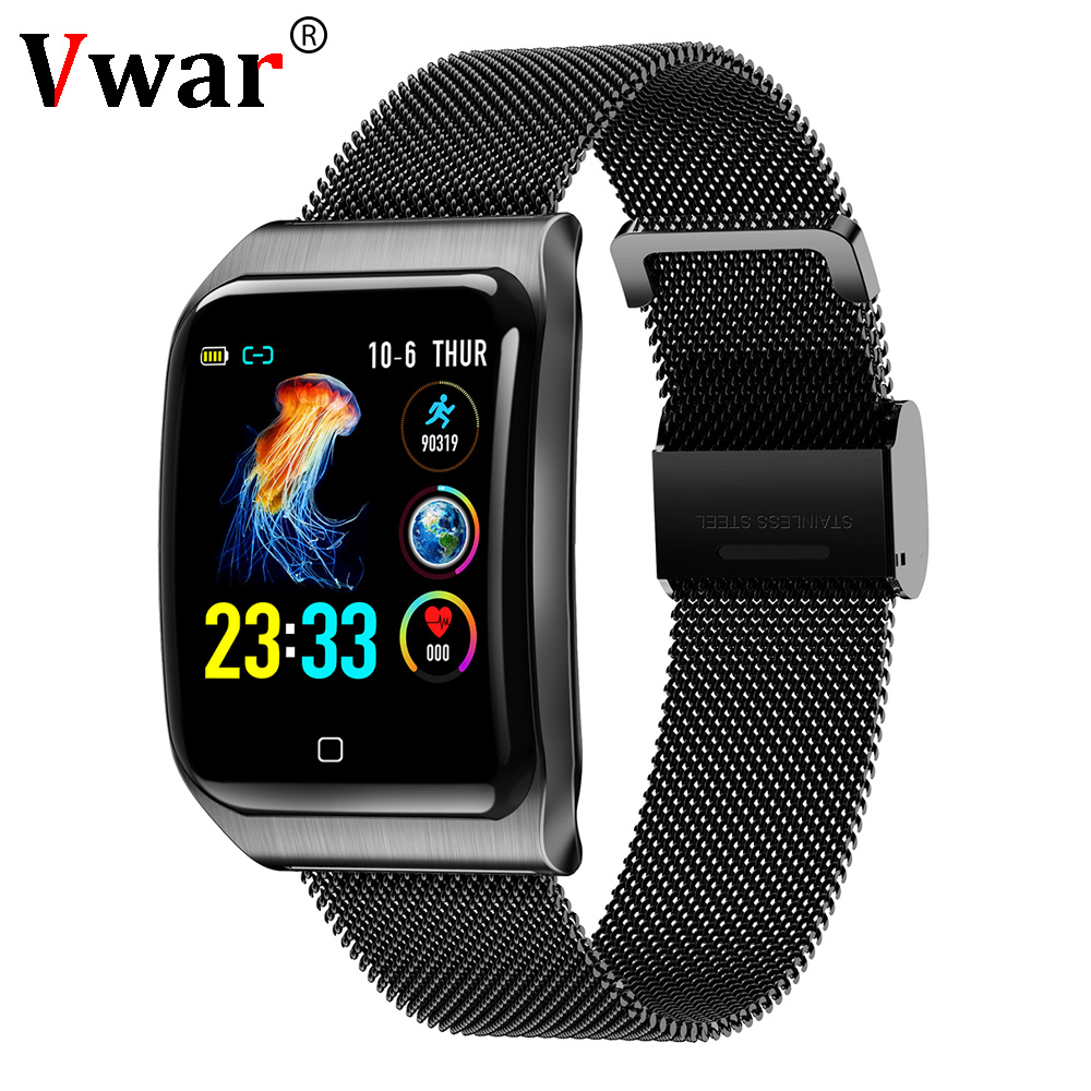 Vwar AF6 IP68 Waterproof Smart Watch Heart Rate Monitoring Blood Pressure Sport Bluetooth Men Smartwatch for IOS xiaomi android