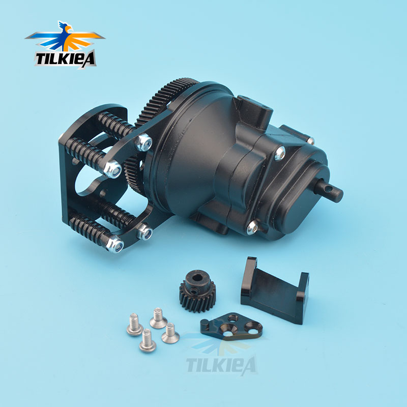 Rc Car Black Metal Transmission Case R3 with Motor Gear And Mount Holder For 1 10