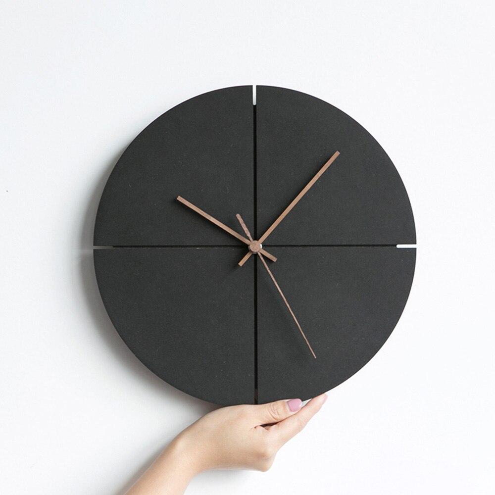 Nordique Creative horloge murale en bois chambre salon minimaliste horloge murale maison décorer MDF horloges murales en bois pour cadeau