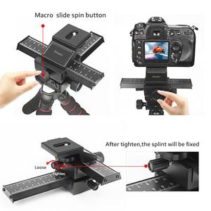 Image 5 - Schieten 4 Way Macro Focusing Rail Slider Voor Canon Sony Nikon Pentax Close Up Opnamen Statief Hoofd Met 1/4 schroef Voor Dslr Camera